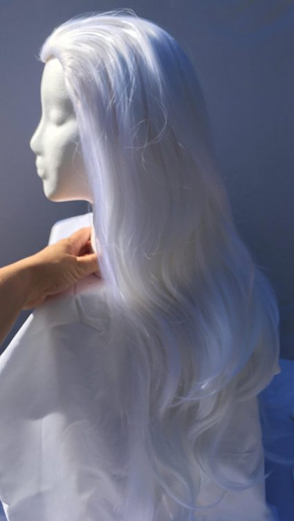 Lotor cosplay wig side view