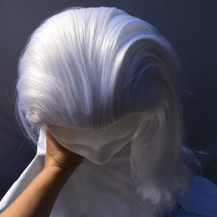 Lotor cosplay wig top view