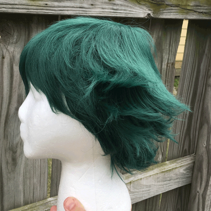 Deku wig side view