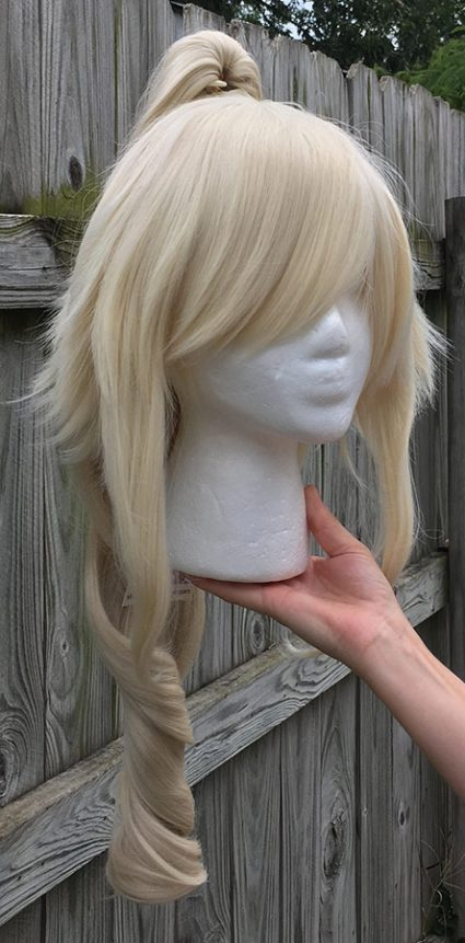 High Kick cosplay wig with single ponytail