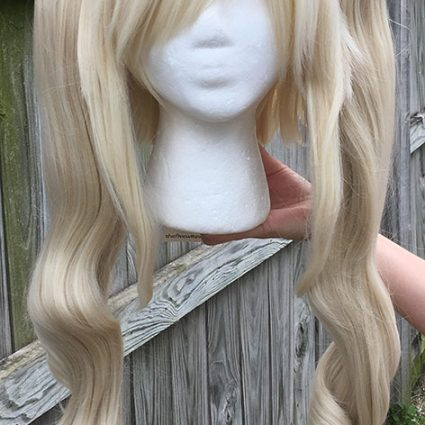 High Kick cosplay wig with ponytails, front view