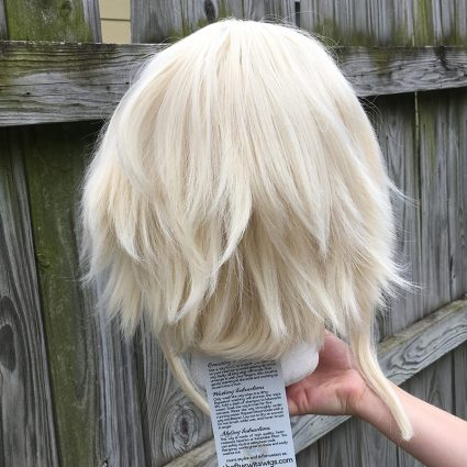 High Kick cosplay wig base only, back view