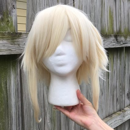 High Kick cosplay wig base only, front view