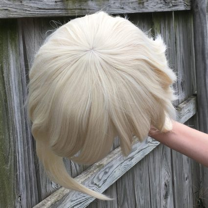 High Kick cosplay wig base only, top view