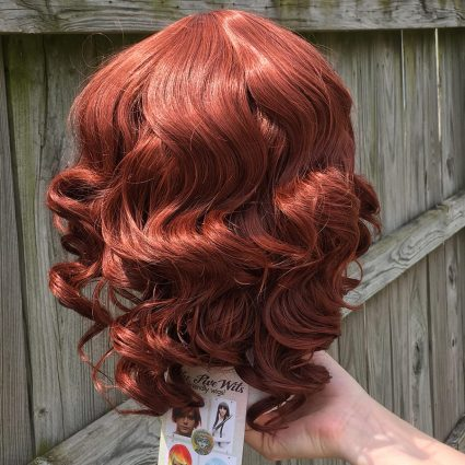 Natasha cosplay wig back view