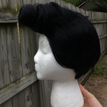 Dandy cosplay wig- pompadour step 6