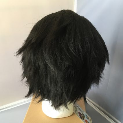 black steel lacefront wig back