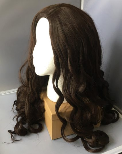 Diana Prince cosplay wig side view