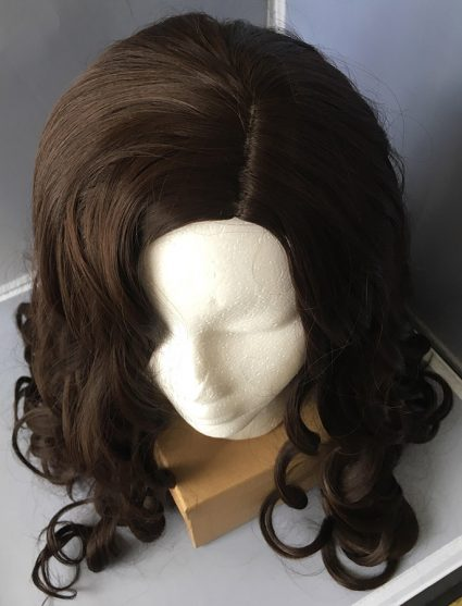 Diana Prince cosplay wig top view