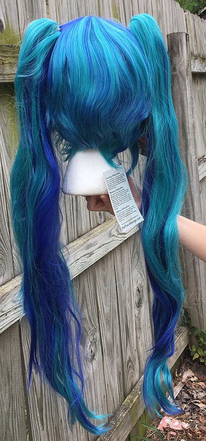 Seahorse Loli cosplay wig back view