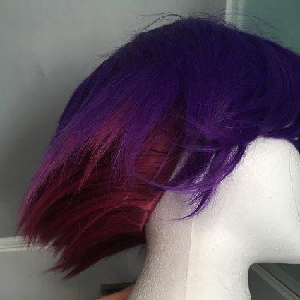 Krolia wig pink fibers