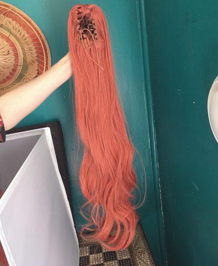 Monika wig ponytail