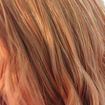 Haru cosplay wig color close-up