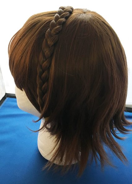 Makoto Niijima cosplay wig back view with braid