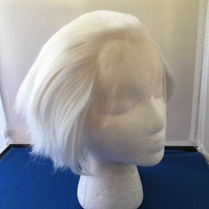 white lacefront cosplay wig