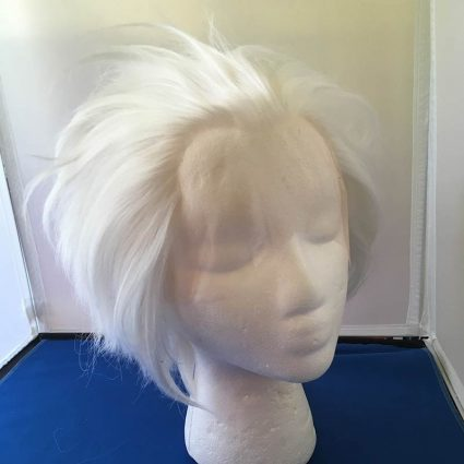 white lacefront wig fluffed