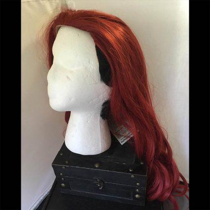 Aubrey cosplay wig side view hair down