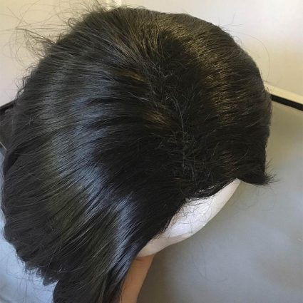 Sombra cosplay wig top view