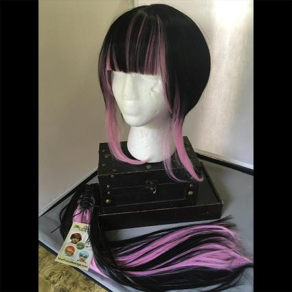 Yukio cosplay wig front view without ponytail