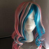 Trans flag wig