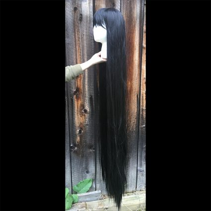hime cosplay wig side view