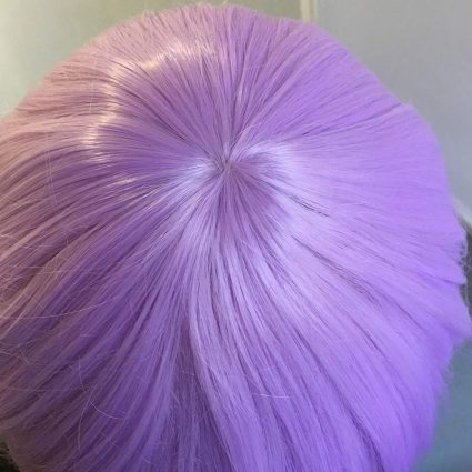 Mash cosplay wig top view