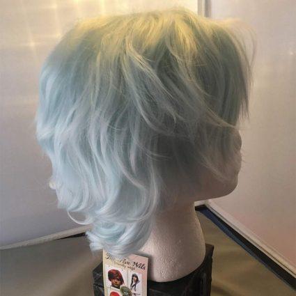 Shigaraki cosplay wig side view
