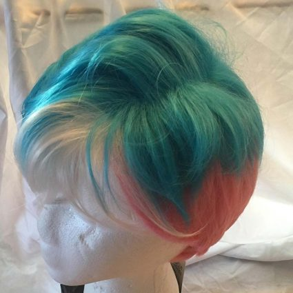 short trans wig top view