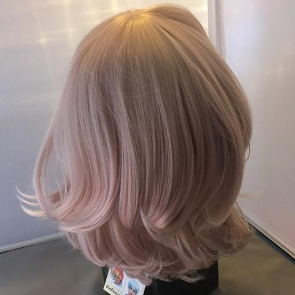 soft cosplay wig back view