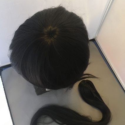 Samurai wig top view