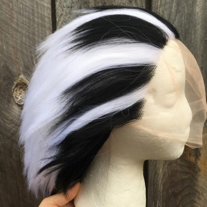 Bokuto cosplay wig side view