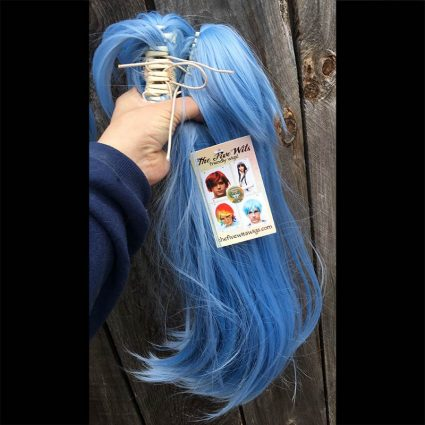 Lily cosplay wig ponytail view
