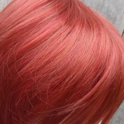 Giant Prop cosplay wig color viewed in outdoor lighting