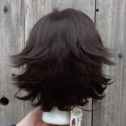 Mecha cosplay wig back view