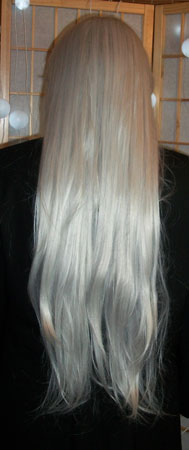 Inuyasha cosplay wig back view
