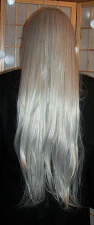 Inuyasha cosplay wig back view