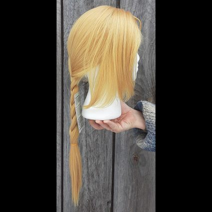 Abbreviated Alchemical cosplay wig side view