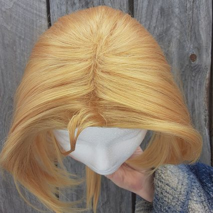 Abbreviated Alchemical cosplay wig top view