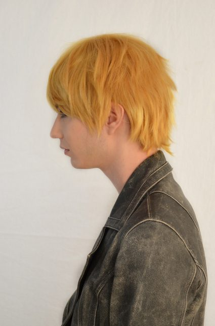 Naruto cosplay wig side view