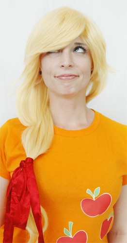 Applejack cosplay wig