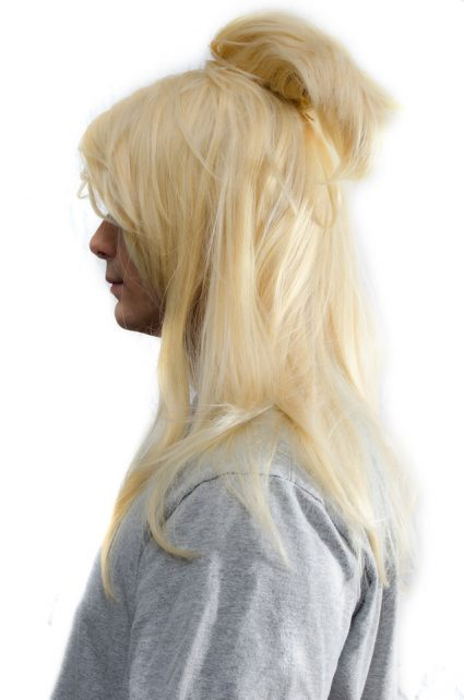 Deidara cosplay wig side view