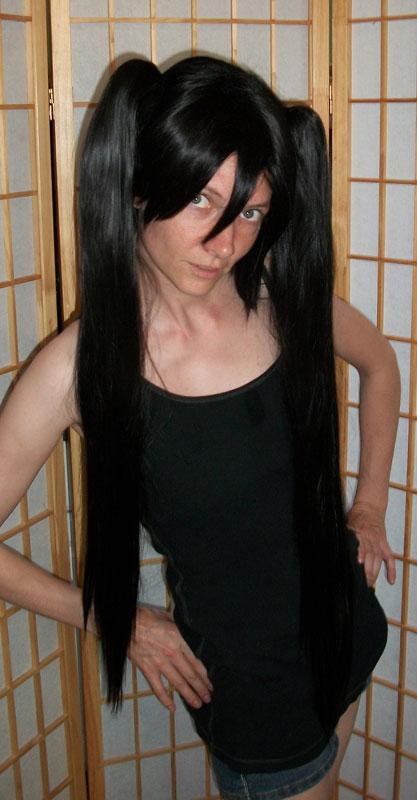 Black Rock Shooter cosplay wig