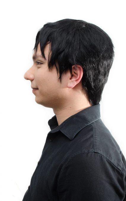 Tadashi Hamada cosplay wig side view