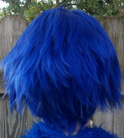 Kaito cosplay wig back view