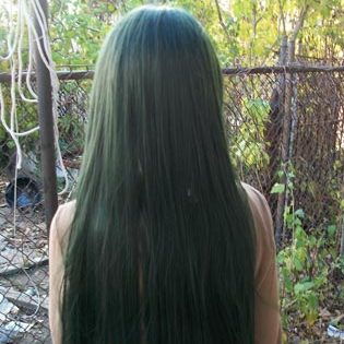 Sailor Pluto cosplay wig back view