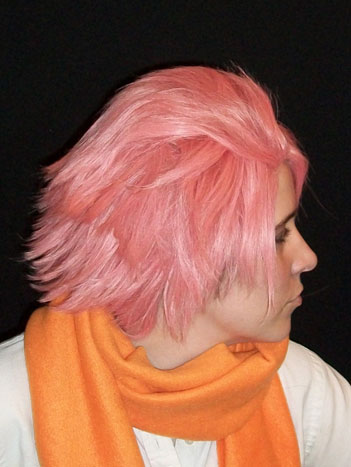 Natsu cosplay wig side view