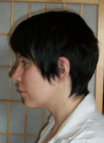 Roy Mustang cosplay wig side view