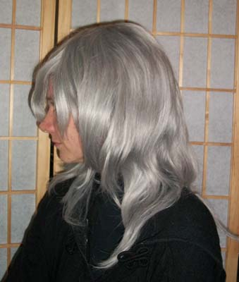 Riku cosplay wig side view
