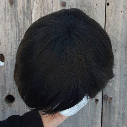 Smoldering Antihero cosplay wig top view