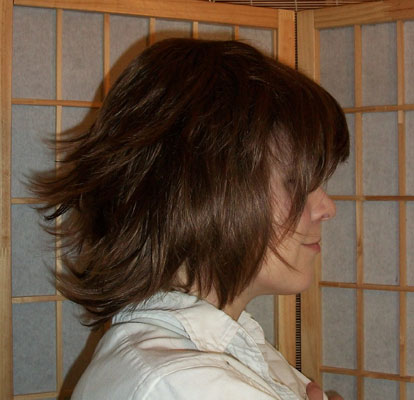 Sora cosplay wig side view